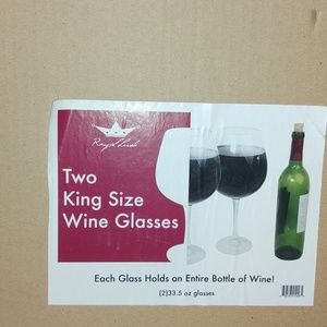 Other - GIANT wine glasses- Open Box